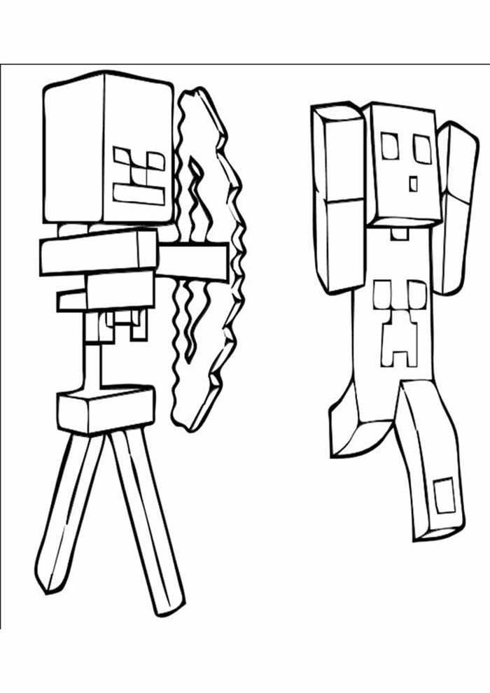 minecraft coloring page 40