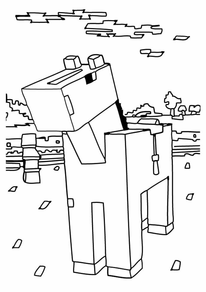 minecraft coloring page 41