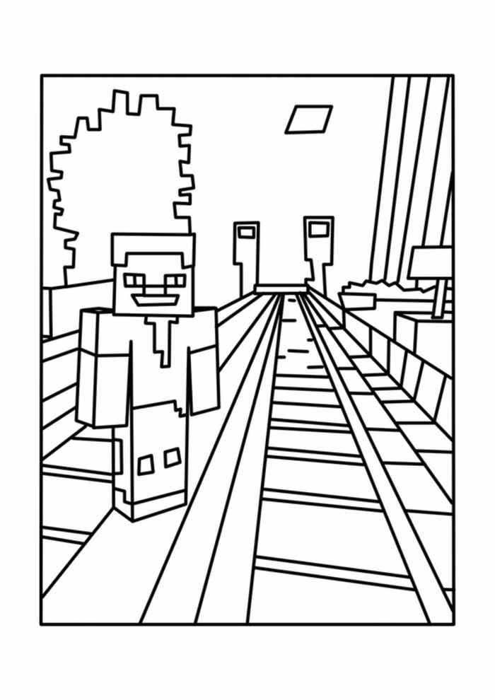minecraft coloring page 42