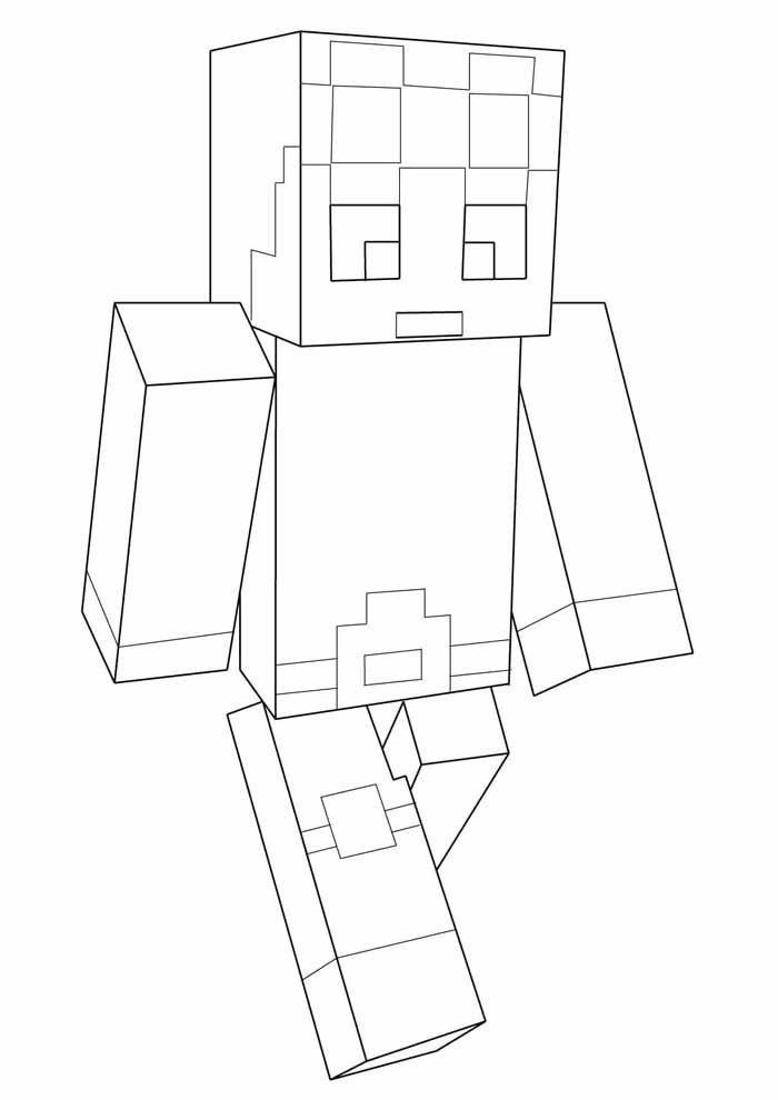 minecraft coloring page 43