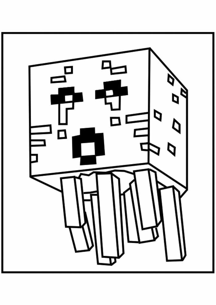 minecraft coloring page 44