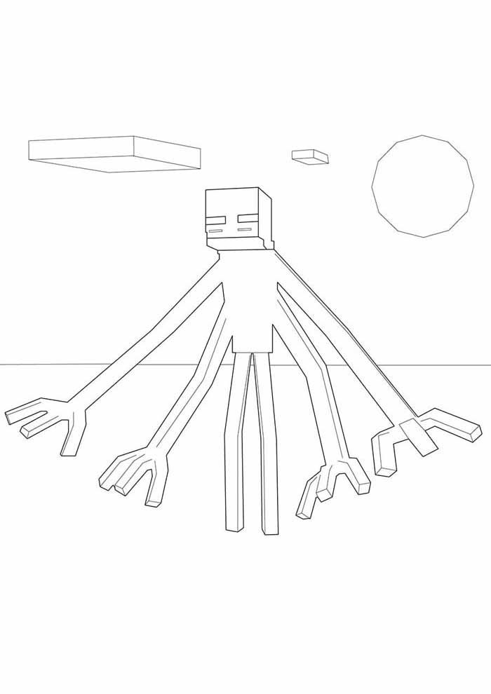 minecraft coloring page 45