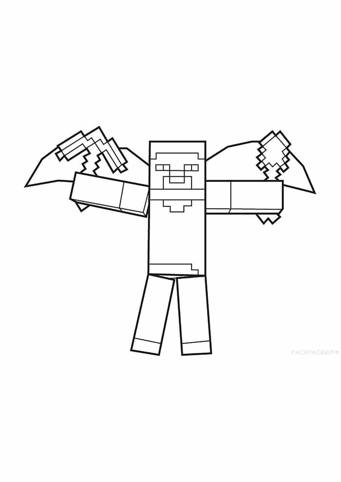 minecraft coloring page 47