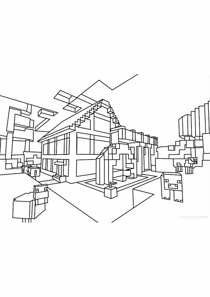 minecraft coloring page 48