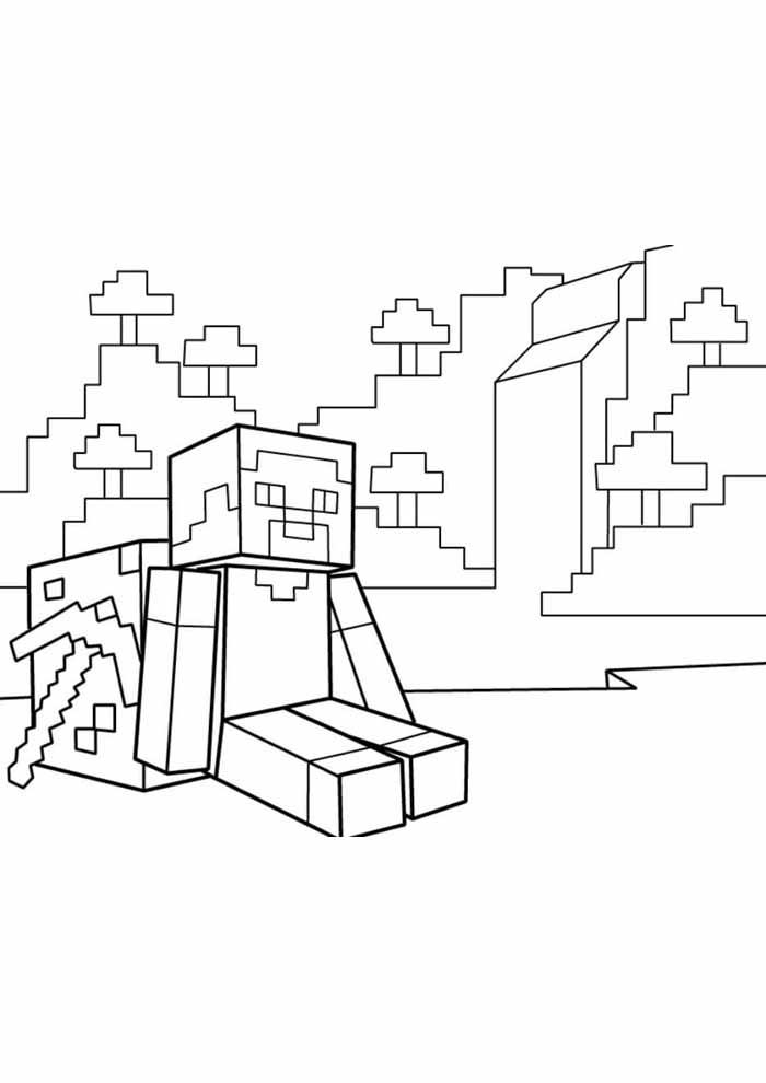 minecraft coloring page 49
