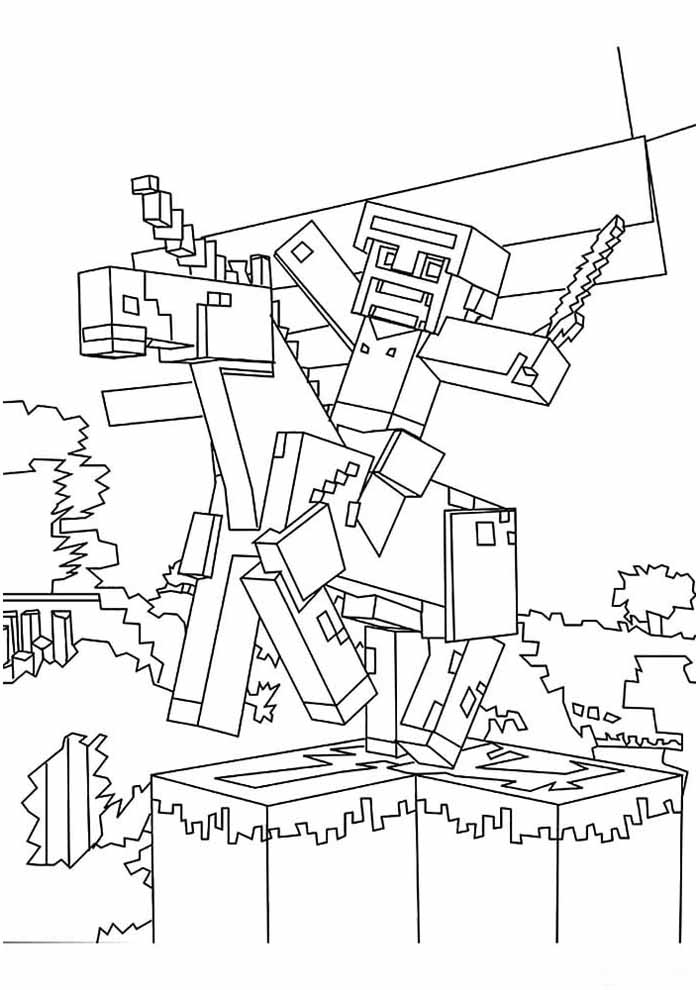 minecraft coloring page 5