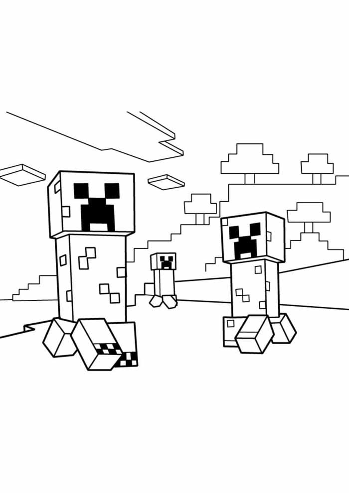 minecraft coloring page 50