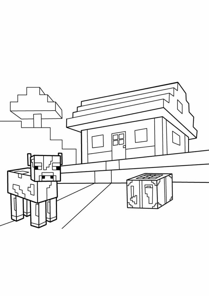 minecraft coloring page 51