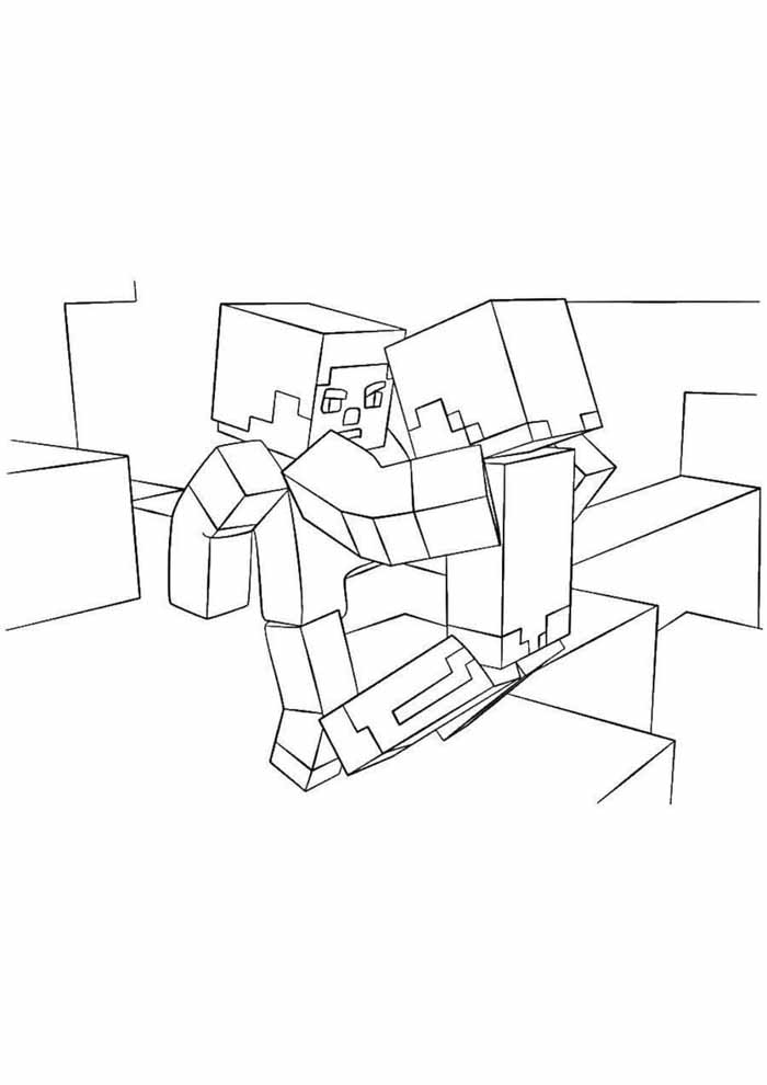 minecraft coloring page 52