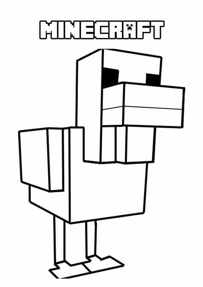 minecraft coloring page 54
