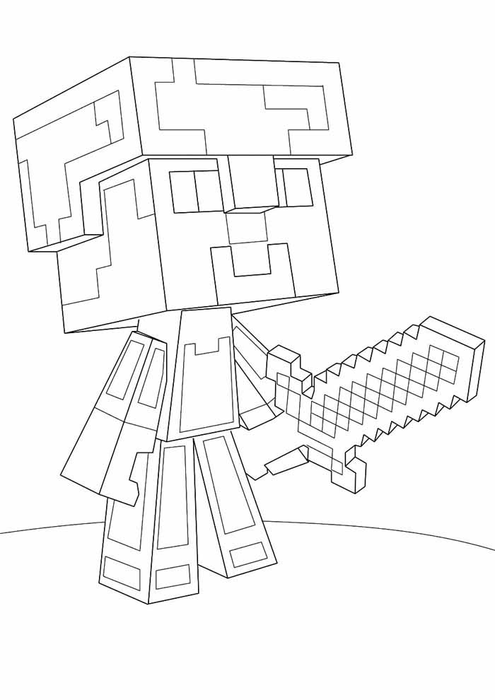 minecraft coloring page 55