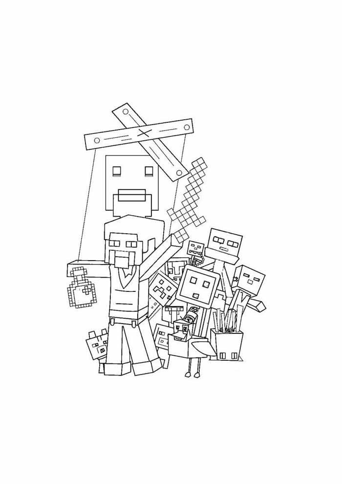 minecraft coloring page 56