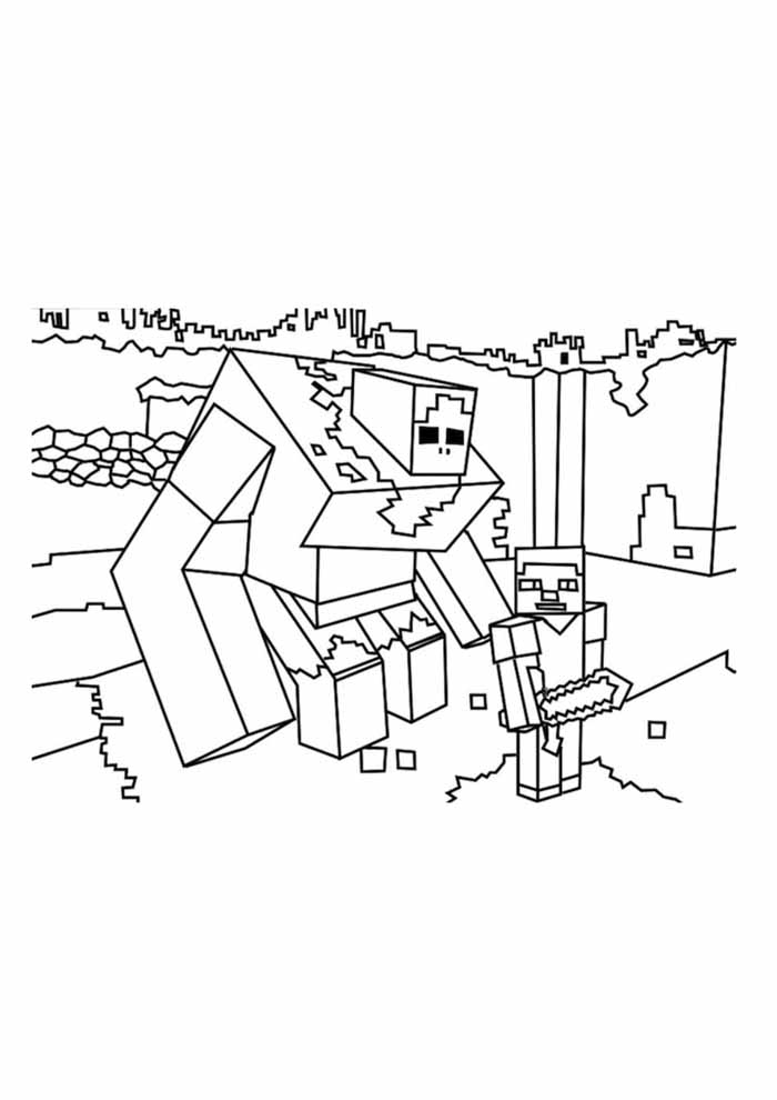 minecraft coloring page 57