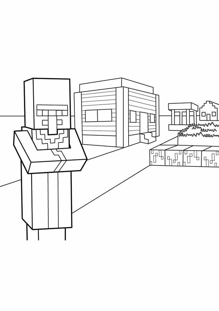 minecraft coloring page 58