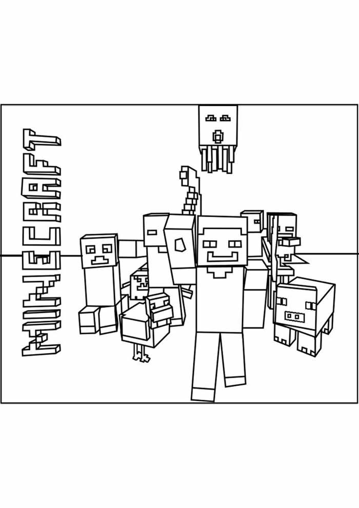 minecraft coloring page 59