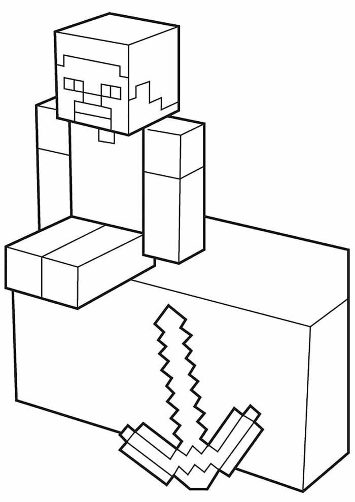 minecraft coloring page 6