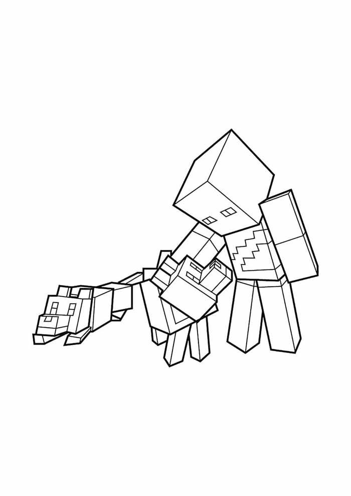 minecraft coloring page 60