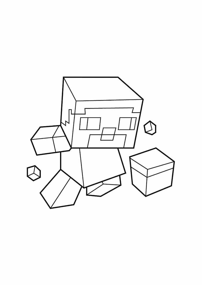 minecraft coloring page 61