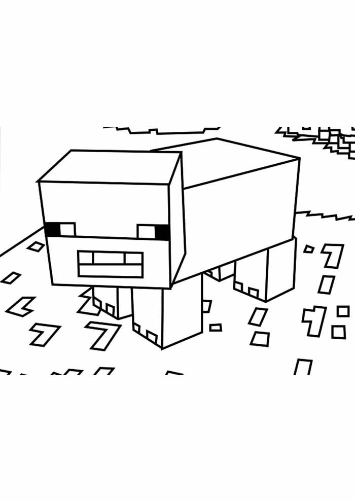 minecraft coloring page 62