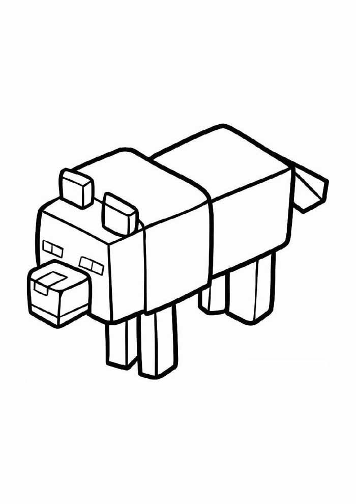 minecraft coloring page 64