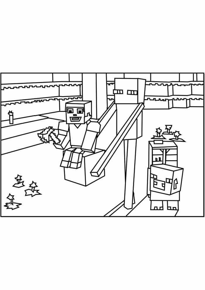 minecraft coloring page 65