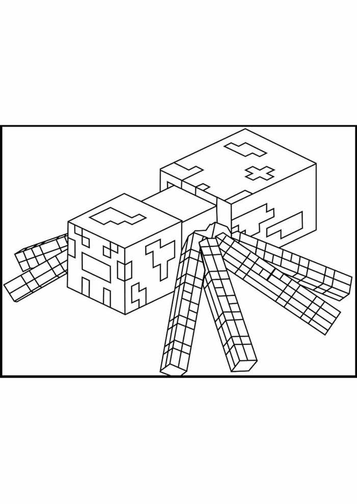 minecraft coloring page 66