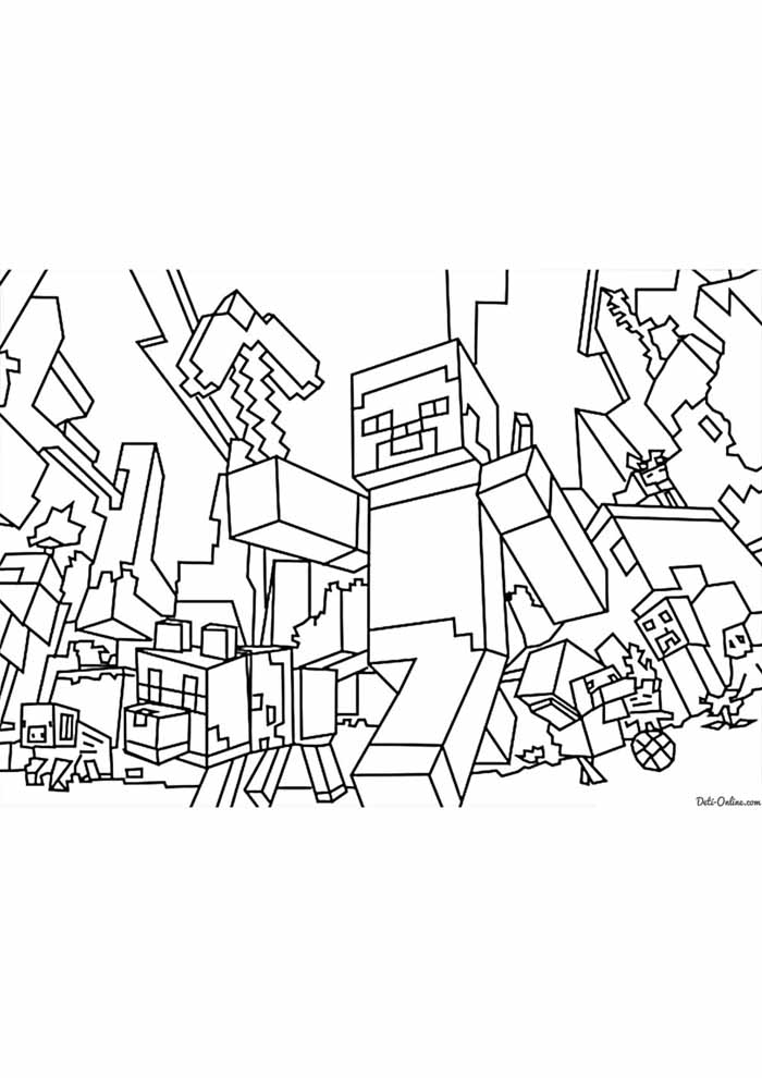 minecraft coloring page 67
