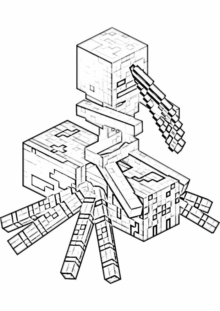 minecraft coloring page 68