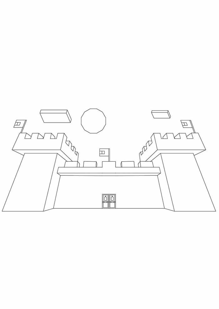 minecraft coloring page 69