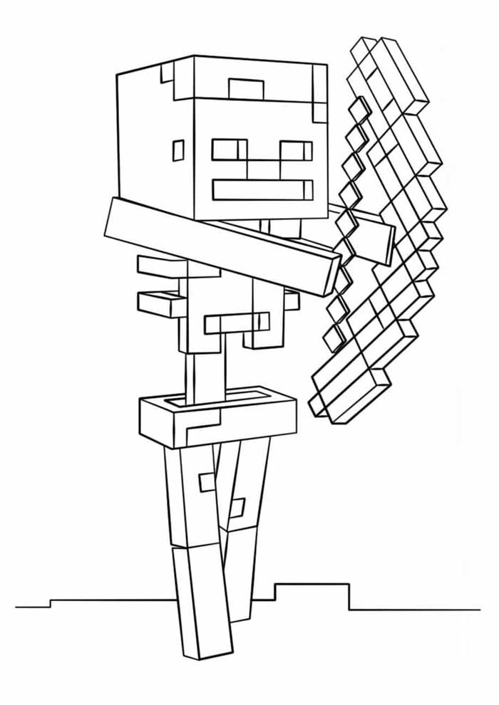 minecraft coloring page 7