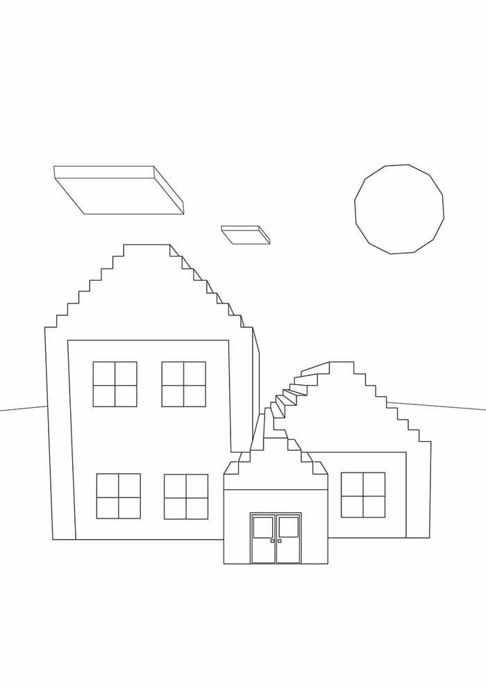 minecraft coloring page 71
