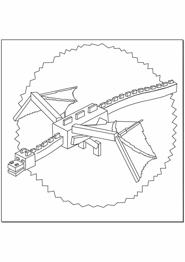 minecraft coloring page 72
