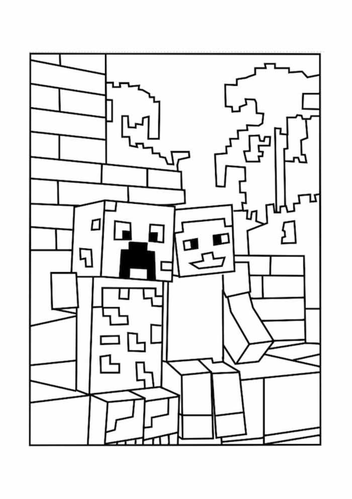 minecraft coloring page 9