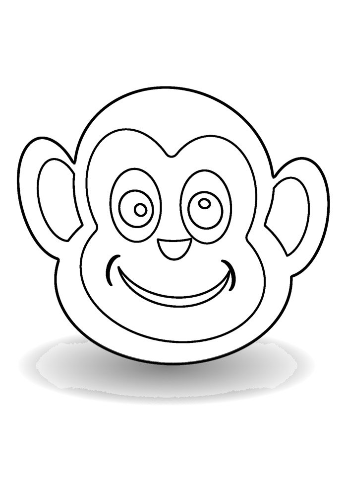 monkey coloring page 10