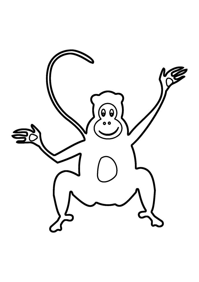 monkey coloring page 15