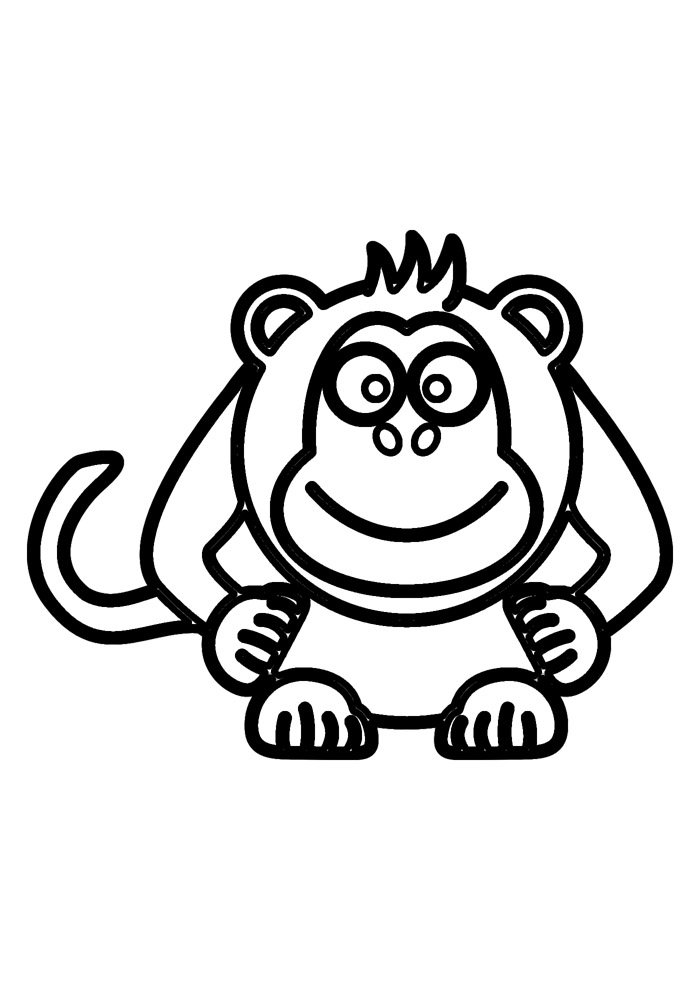 monkey coloring page 16