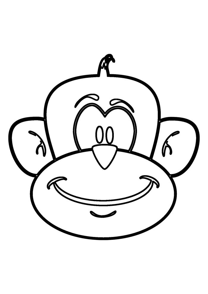 monkey coloring page 18