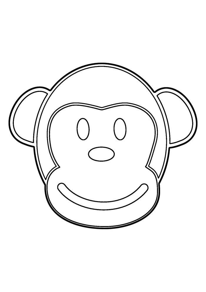 monkey coloring page 21