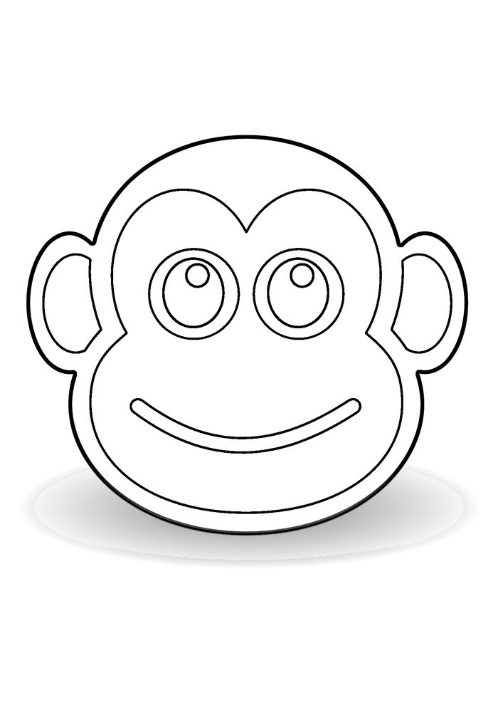 monkey coloring page 22