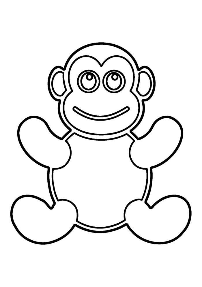 monkey coloring page 25