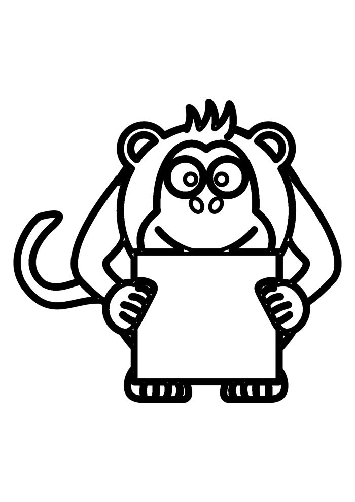 monkey coloring page 27