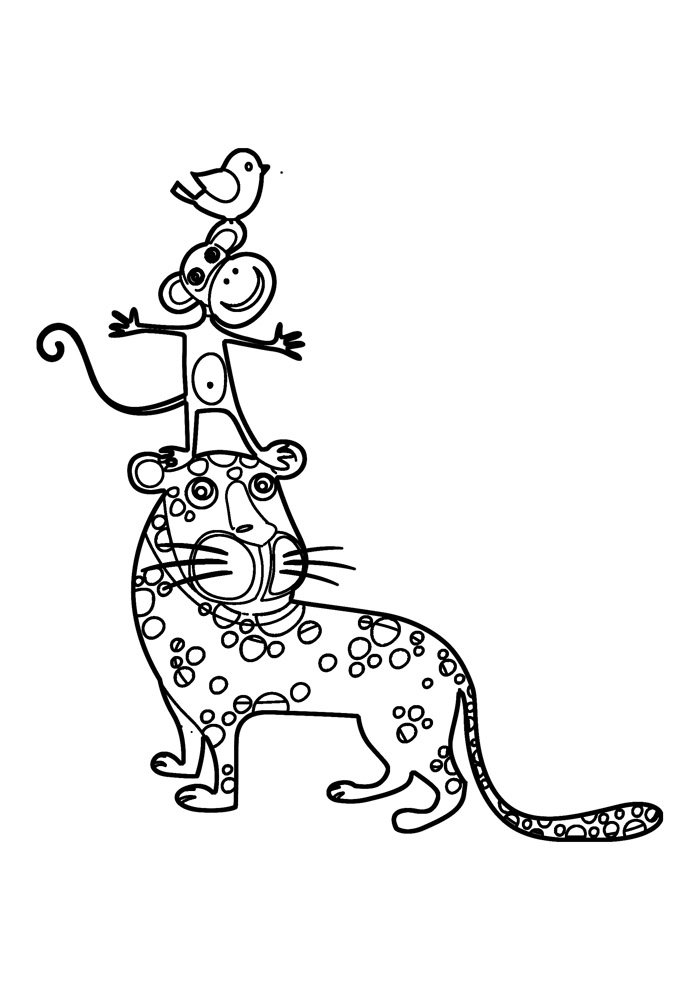 monkey coloring page 3