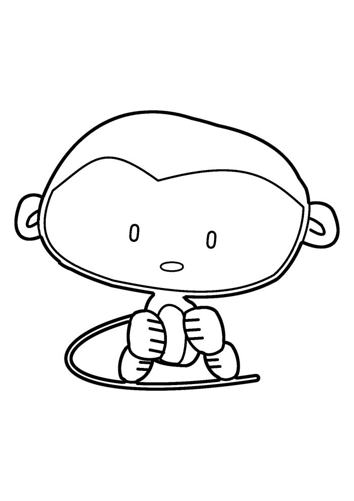 monkey coloring page 30