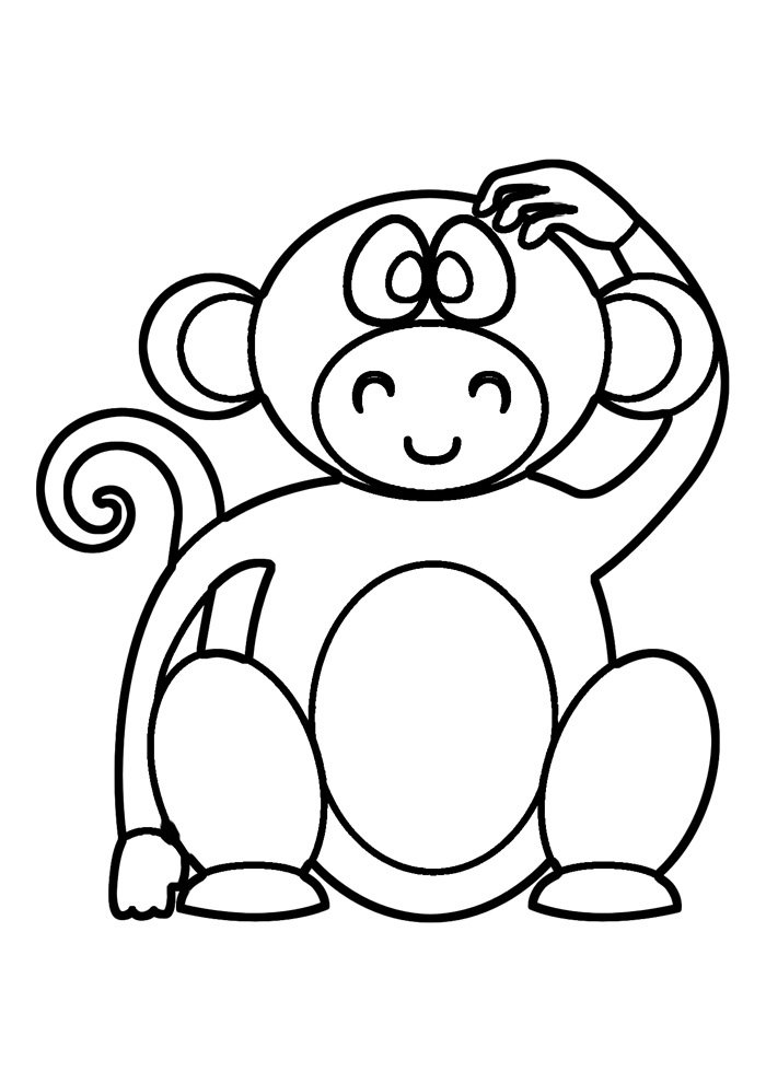 monkey coloring page 32