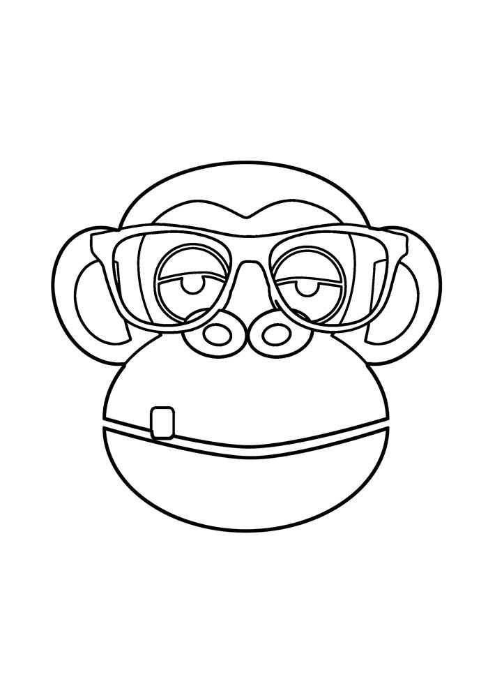 monkey coloring page 33