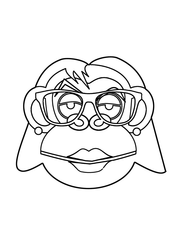 monkey coloring page 34