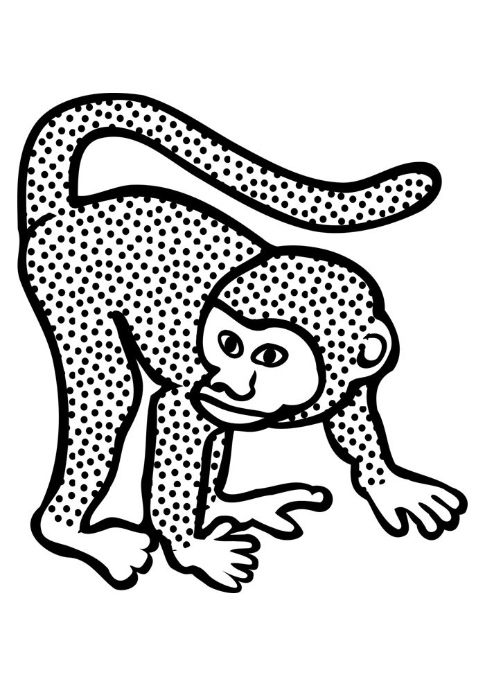 monkey coloring page 35