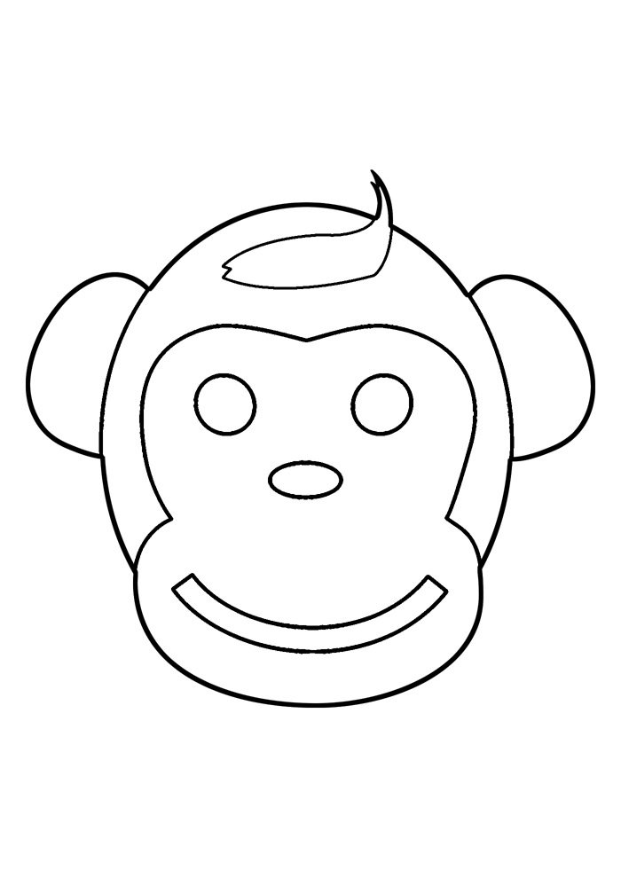 monkey coloring page 36