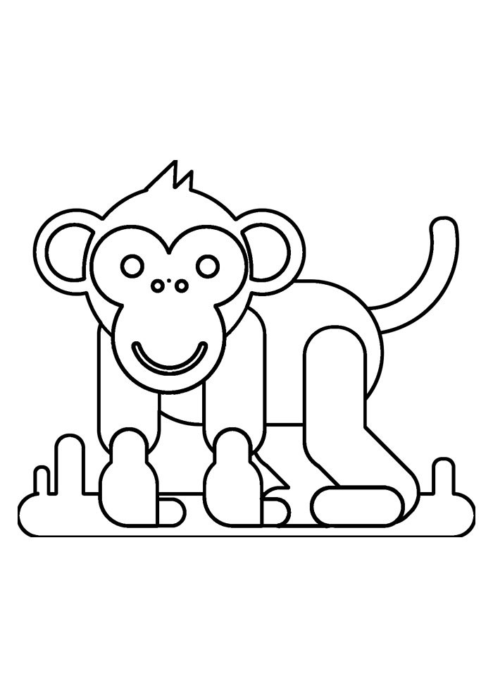 monkey coloring page 38