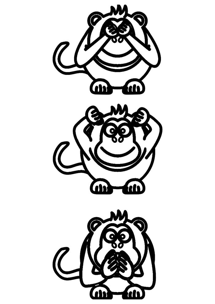monkey coloring page 47